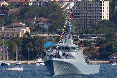 Offshorepatrouillenschiff OPV HTMS Krabi OPV-551 der k?niglichen thail?ndischen Marine in Sydney Harbor stockfoto