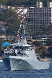 Offshorepatrouillenschiff OPV HTMS Krabi OPV-551 der k?niglichen thail?ndischen Marine in Sydney Harbor stockfotografie