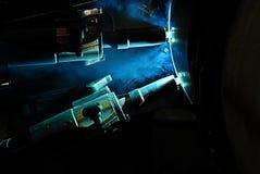 Offshorerohrschweißen Stockbilder