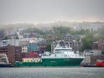 Offshoreschiff Havila Venus Moored an ` s Johannes Hafen Stockbilder