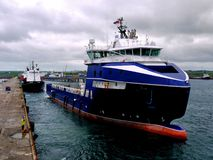 Offshoreversorgungsschiff 12a Stockbild