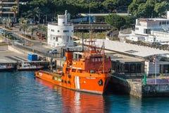 Offshoreversorgungsschiff Punta-Salinen stockbilder