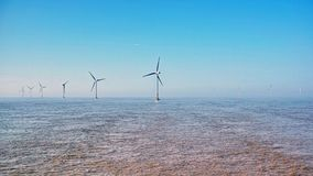 Offshorewindkraftanlagen Stockbild