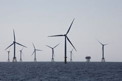 Offshorewindpark Stockbilder