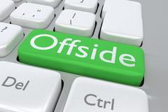 Offside concept Stock Image