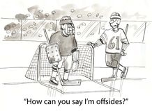 Offsides hockey Stock Image