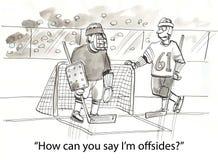 Offsides hockey Stock Image