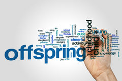Offspring word cloud Stock Image