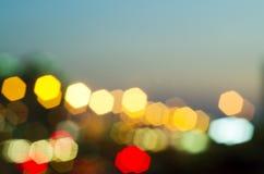 Offuschi gli indicatori luminosi Fotografia Stock