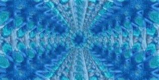 Offuschi il fondo astratto simmetrico blu per la stampa sull'abbigliamento Immagine Stock