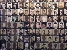 Ofiar fotografie, muzeum Kalavryta holokaust, Peloponnese, Grecja obraz stock