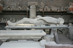 Ofiara Pompeii Zdjęcia Stock
