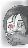 Ofiara porwania, ilustracja Obrazy Stock