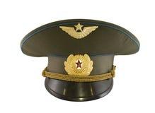 Oficer nakrętka sowieci pilot Obraz Royalty Free