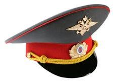 oficer policji rosyjscy kapelusz Zdjęcia Stock