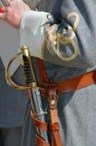 oficerem konfederatów miecz Obrazy Stock