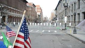 Oficery śledczy na Boylston ulicie w Boston, usa, zbiory