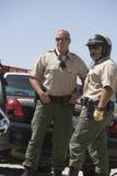 Oficery Stoi Wpólnie Zdjęcie Royalty Free