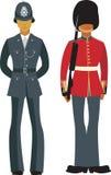 Oficiais britânicos bonitos Fotografia de Stock Royalty Free