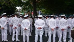 Oficiais da marinha de Nova Zelândia Imagens de Stock Royalty Free