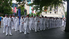 Oficiais da marinha de Nova Zelândia Fotos de Stock Royalty Free