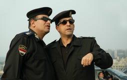 Oficiais de polícia egípcios foto de stock royalty free