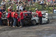 Oficiais do derby na ação Imagem de Stock