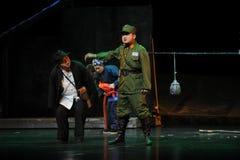 Oficiais do KMT e capitão - ópera de Jiangxi uma balança romana Imagens de Stock Royalty Free