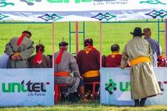 Oficiais na cerimônia de inauguração de Nadaam Imagens de Stock
