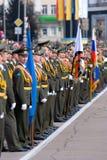 Oficiais na parada Imagem de Stock