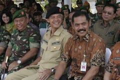 Oficial central de Java Governor Ganjar Pranowo Joint fotografía de archivo