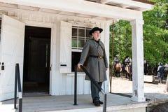 Oficial confederado fuera de cuartos del ` s del oficial imagen de archivo
