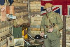Oficial de ejército británico de WWI en su oficina Fotografía de archivo libre de regalías