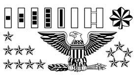 Oficial de exército militar Rank Insignia ilustração stock
