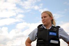 Oficial de la comunidad de la policía Fotografía de archivo