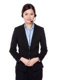 Oficial de los servicios de atención al cliente Fotografía de archivo libre de regalías