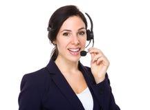 Oficial de los servicios de atención al cliente Imagen de archivo