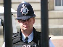 Oficial de polícia britânico fotografia de stock