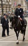 Oficial de polícia montado no casamento real imagens de stock
