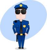 Oficial de policía ilustración del vector