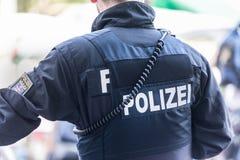 Oficial de policía alemán de Hesse fotografía de archivo