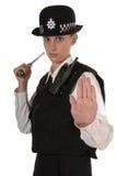 Oficial de policía BRITÁNICO de sexo femenino Fotografía de archivo libre de regalías
