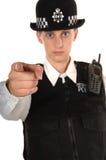 Oficial de policía BRITÁNICO de sexo femenino Fotos de archivo libres de regalías