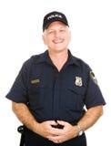 Oficial de policía cómodo Imagen de archivo libre de regalías