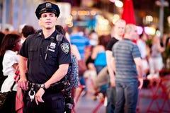 Oficial de policía de NYPD Imágenes de archivo libres de regalías