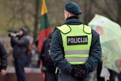 Oficial de policía de servicio, Vilna Fotos de archivo libres de regalías