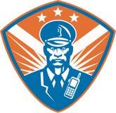 Oficial de policía del guardia de seguridad del policía Crest Imagen de archivo