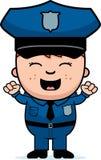 Oficial de policía Excited ilustración del vector