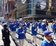 Oficial de policía Guards un desfile en New York City, NYC, NY, los E.E.U.U. Foto de archivo libre de regalías