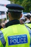 Oficial de policía metropolitano Fotos de archivo libres de regalías